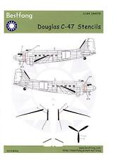 Bestfong Decals 1/144 DOUGLAS C-47 DAKOTA STENCILS