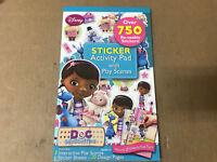 Doc McStuffins Sticker Activity Pad w/ Play Scenes 750 Stickers