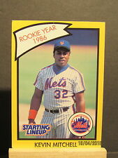 1990 Kenner SLU Card #58 Kevin Mitchell Rookie Year Yellow 1986 Mets
