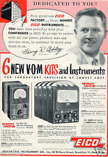 1952 Print Ad of Electronic Instrument Co EICO VOM Volt Ohm Multimeters