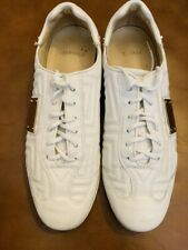 GIANNI VERSACE COLLECTION MEDUSA WHITE LEATHER LOW TOP SNEAKERS SZ 38.5
