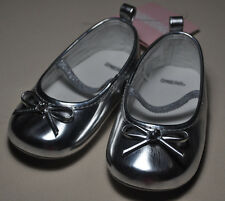 New Gymboree silver mary janes shoes NWT girl size 1