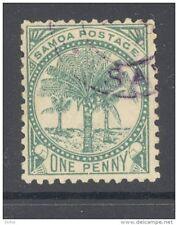 SAMOA, 1886 1d (wmk 4c, P12x11½) VFU, SG35, cat £40 (D)
