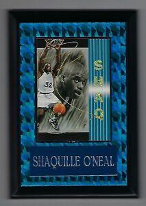 "Vintage 1990s 6.5"" x 4.5"" Card Plaque Shaq Shaquille O'neal Orlando Magic #2"
