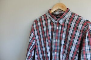 Fred Perry tartan check pattern shirt | XL Red white | VGC