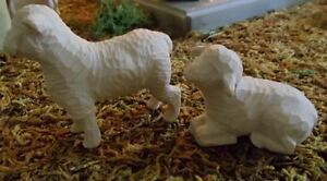 NEW Replacement  or Extra  Willow Tree Nativity White Sheep Laying & Standing