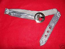 Vintage 1960's silver chainmaille belt