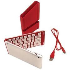 iWerkz Red Folding Wireless Bluetooth Keyboard for Smartphone Tablet