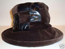 CHAPEAU noir marron COTON hiver T 50 XS wool chaud hiver NEUF
