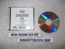 CD Schlager Gigi D'Alessio - Via (1Song) Promo MCD - BMG RCA + presskit