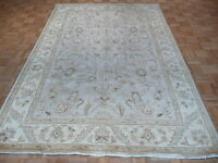 6 X 9 Hand Knotted Sky Blue Peshawar Oriental Rug Vegetable Dyes G194