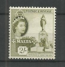 MALTA 1956 2/- OLIVE-GREEN DEFINITIVE SG,278 M/M LOT 7493A