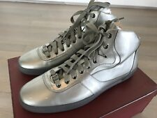 700$ Bally Eroy Silver Patent Leather High Tops Sneakers size US 12