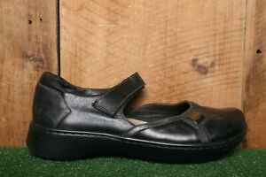 NAOT Black & Pewter Leather Mary Jane Loafers EUR 41 | US 10