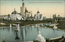 1910 Expo Bruxelles Les Jardins Francaise Postcard