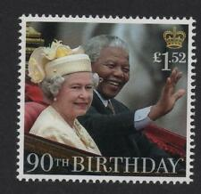 QUEEN ELIZABETH II WITH NELSON MANDELE IN 1996/GB 2016 UM MINT STAMP