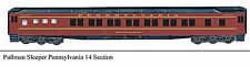 14 Section Pullman Sleeper Various Roads Ho Passenger Car Unptd Plastic Kit B54