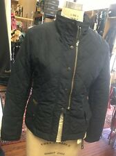 NWT Small Navy Blue Golden Dress Zip Riding Equestrian Jacket