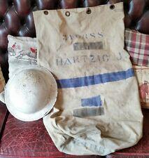 Genuine WW2 British Malta Kit Bag RAF & MK2 White Brodie Tommy helmet NAMED