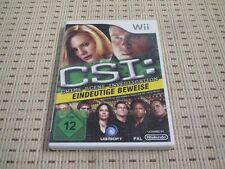 CSI Crime Scene Investigation Eindeutige Beweise für Nintendo Wii und Wii U OVP
