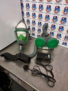 MSA Optimair 3000 Respiratory Kit battery charger face mask hose (vat) Lot 2
