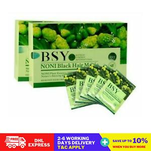 5X BSY Noni Black Grey Hair Removal Magic Herbal Essence Shampoo Dye 20ml X 20's