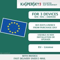 Kaspersky Internet Security 2018 EU 3 Devices, Multi-Device KEY ESD ]
