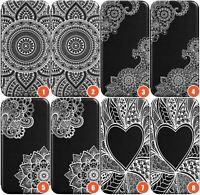 Henna Wallet Flexible Phone Case for iPhone | Mehndi HennaLace Tatoo Mandala