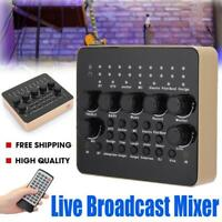 KTV Live Broadcast Studio Sound Card 3D Microphone Recording USB Mixer for Phone