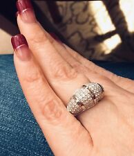 Charles & Colvard domed moissanite Ring 1.16cttw Pave bling ring - Size 7 - MD17