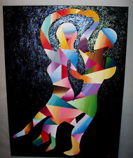 Bodies In Dance Space Time Painting Portrait Original Modern Contemporary ART