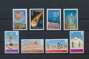 LN89109 Turks & Caicos aviation agriculture fine lot MNH