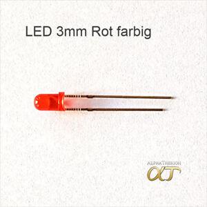 LED 3mm farbiges Gehäuse, Gelb , Orange , Rot , Grün , Blau , Weiß + Widerstände