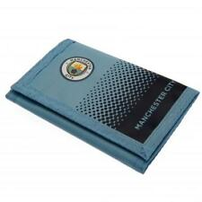 Manchester City F.C. Official Nylon Wallet with Crest Fade Design