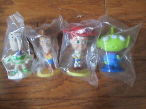 Disney Toy Story Complete Set Mini Bobble Head Nodders Kelloggs Cereal Premium