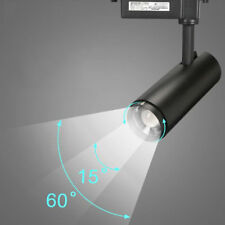 Modern Zoom led track lights rail cob spotlights black zoomable ceiling lamp