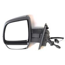 Vauxhall Combo Van Mk3 2012-2015 Cable Wing Door Mirror Black Passenger Side