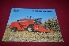 Massey Ferguson 860 850 Combine Dealer's Brochure YABE10