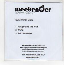 (GG66) Subliminal Girls, Hungry Like The Wolf - 2007 DJ CD