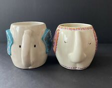 """Two Elephant Mugs by Natural Life """"You Are Loved"""" Types"""