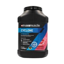 Maximuscle Cyclone All-in-One Protein Powder for Strength in Strawberry 1.26kg