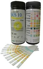 100 x 10 Parameter Urinalysis Urine Strip Tests - UTI Ketone etc Testing Strips