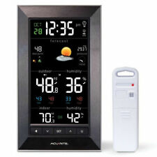 AcuRite 01121M Vertical Wireless Color Weather Station (Dark Theme) with Tempera