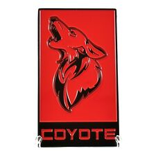 2015-2020 Mustang Coyote Badge - Gt350 Style Emblem - All Metal Epoxy Coated!