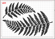 Two Large Fern Leaf no5 Stencil MYLAR A4 sheet strong reusable Art craft deco