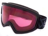Bolle Freeze Ski Snowboarding Goggles Black / Vermillon CAT.2  21797
