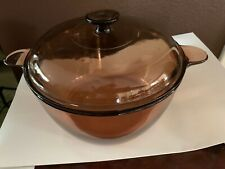 Vision Cookware Amber 4.75 Qt 4.5L Dutch Oven Stock Pot with Lid Usa
