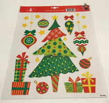 Christmas Tree Window Clings 15 Count Decorations Holiday Decor