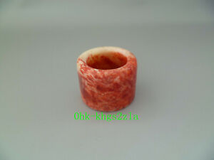 Collected China Antique Beautiful Old Jade Hand Carved Thumb Rings Or Pendant