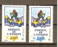 TIMBRES DE SERVICES CONSEIL DE L'EUROPE YVERT N° 126 à 27 NEUF **